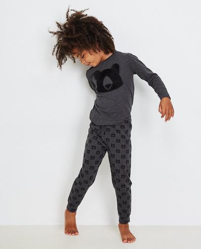 Donkergrijze pyjama 2-7